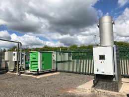 Low Calorie Gas Flare on site with power generation package